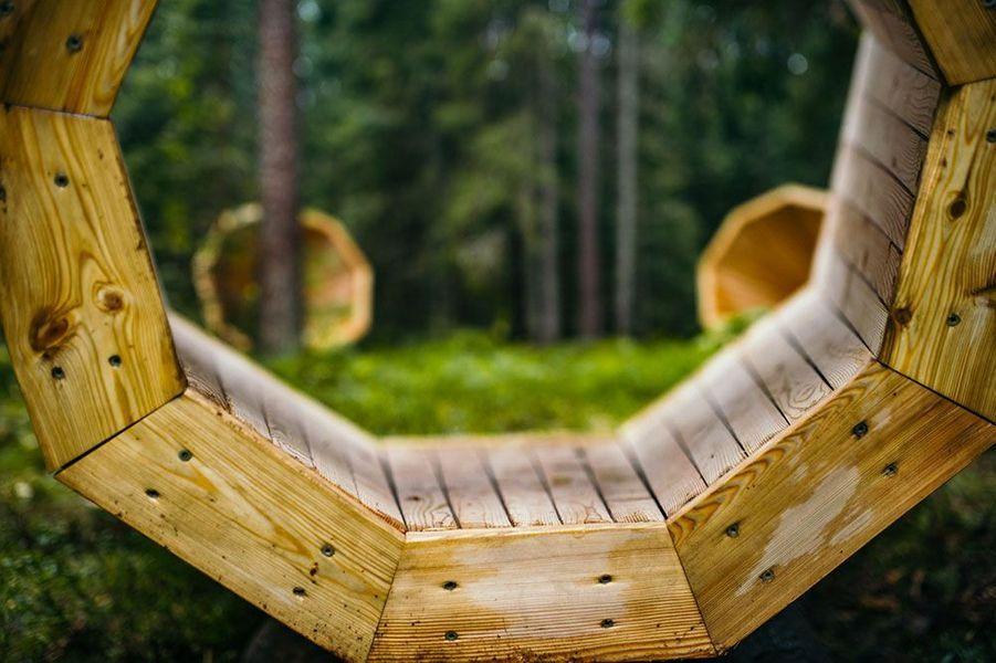 Les mégaphones dissimulés dans la forêt estonienne.