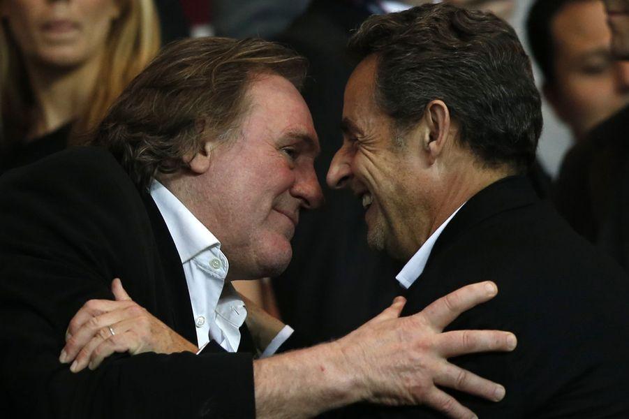 Gérard Depardieu et Nicolas Sarkozy