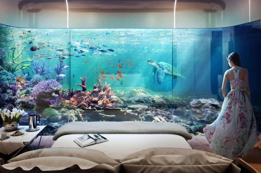 La vue de la chambre qui donne sur l'océan.