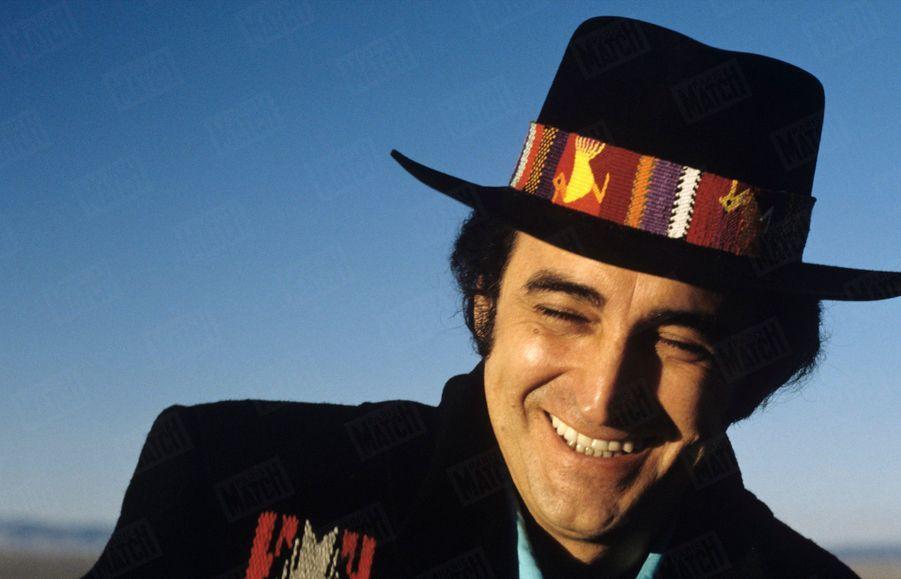 Dick Rivers au Nouveau-Mexique, aux Etats-Unis en décembre 1987.