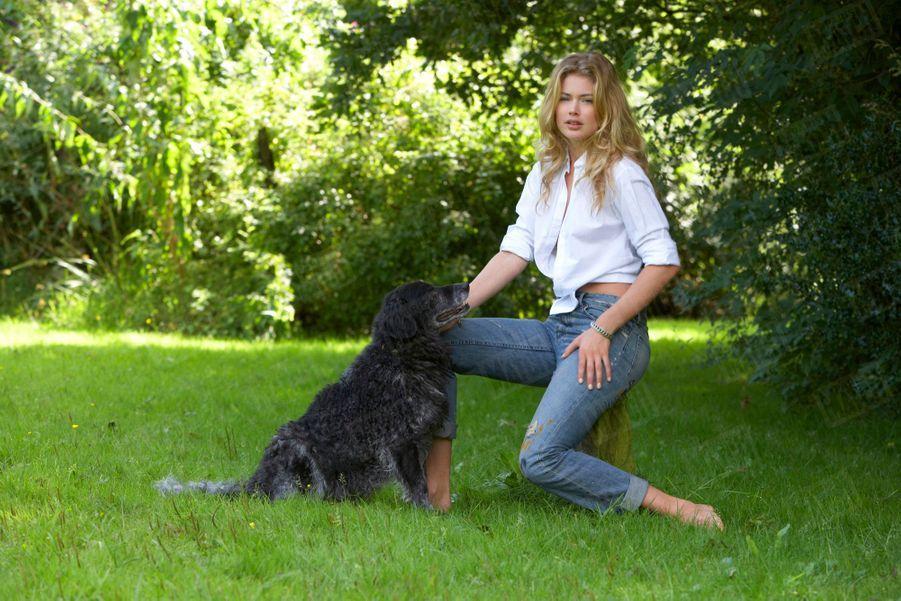 Doutzen Kroes, son premier rendez-vous photos avec Paris Match en août 2009