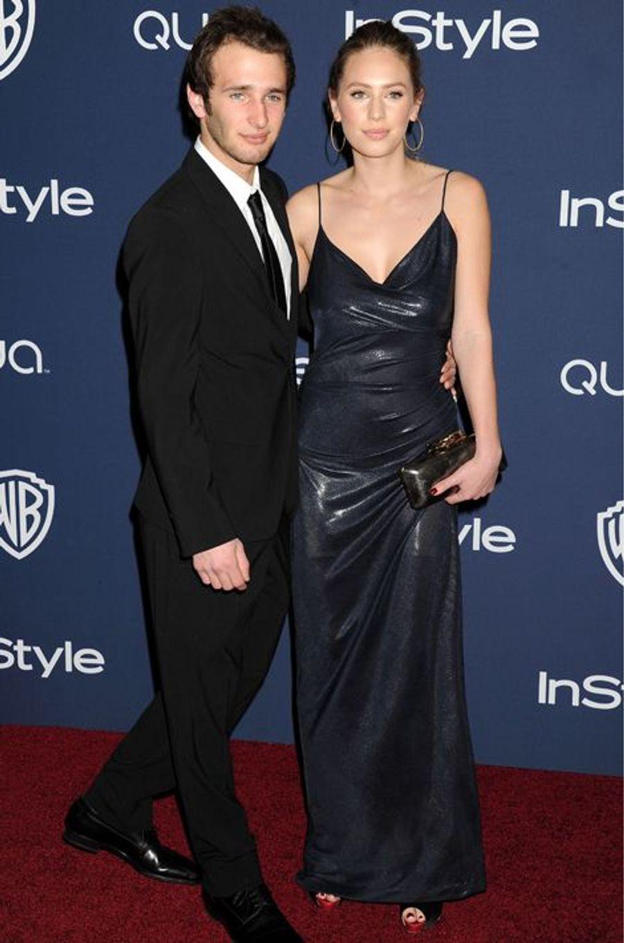 Avec son frère Hopper à la soirée des Weinstein après les Oscars