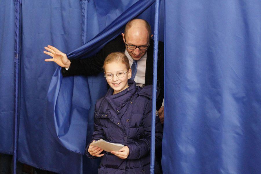 Le Premier ministre Arseny Yatseniuk et sa fille