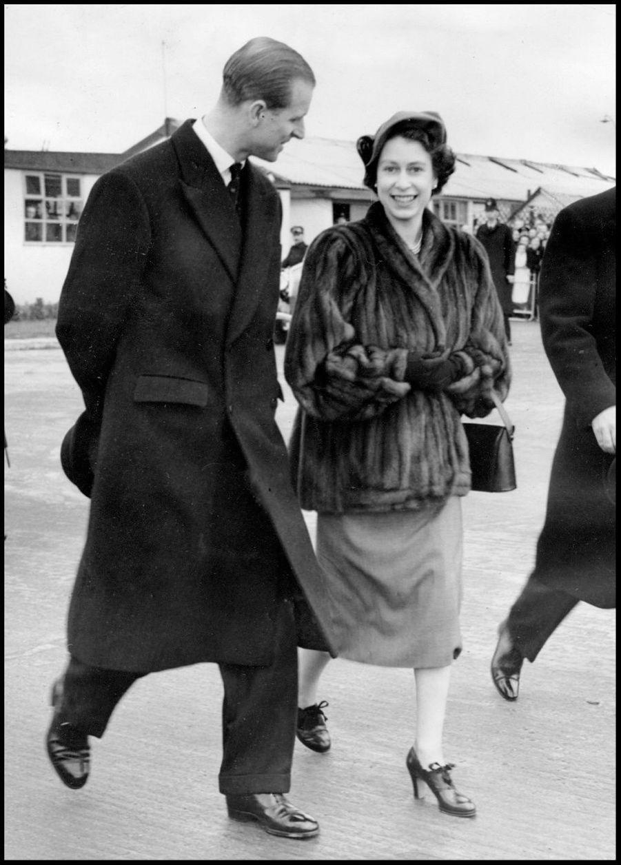 La princesse Elizabeth avec Philip (janvier 1952)