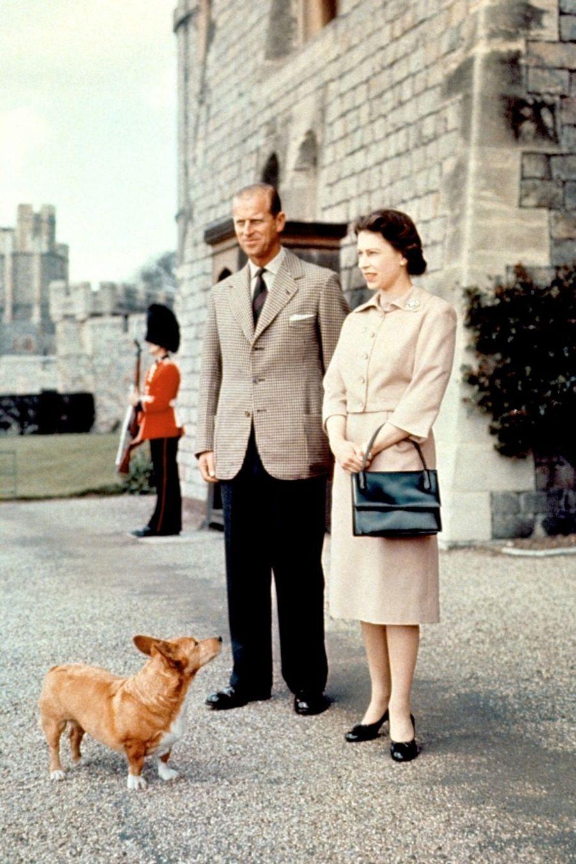 La reine Elizabeth II avec le prince Philip à Windsor (1959)