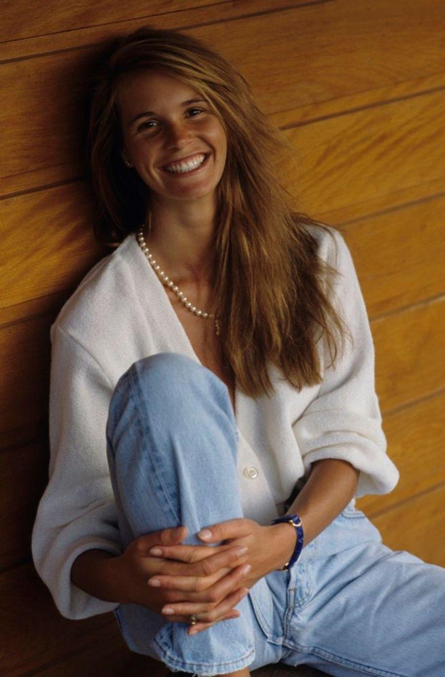 Elle Macpherson, lors de son premier rendez-vous photo avec Paris Match en 1990.