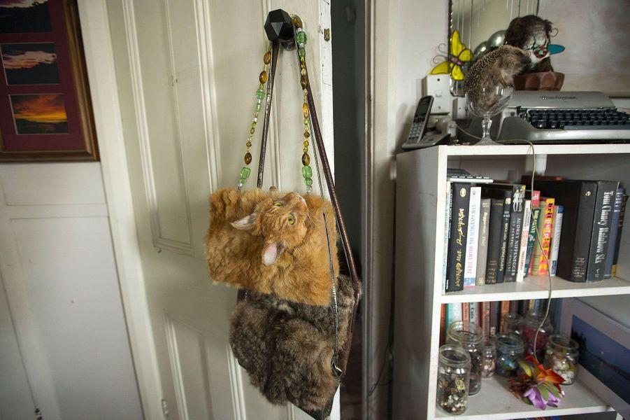 Claire Third a transformé un chat mort en sac à main
