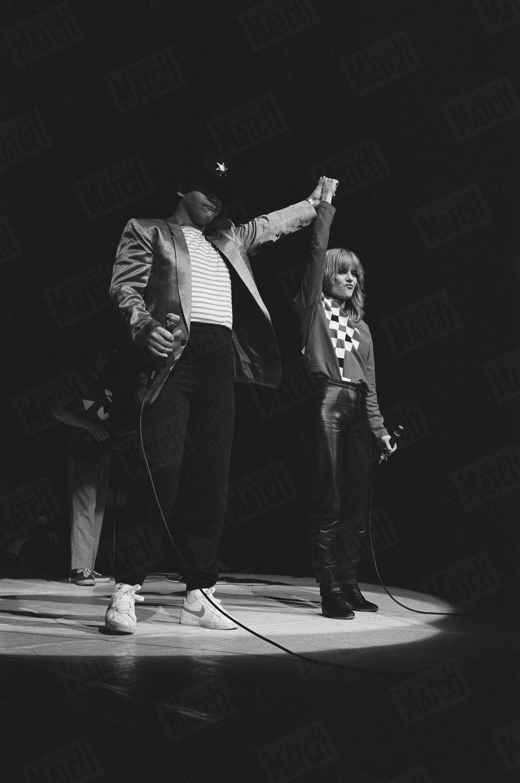 France Gall et Elton John au Palais des Sports en février 1982.