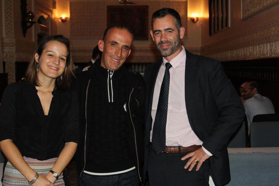 Zinnedine Hashas, Hélène Devienne et Marc Didio de l'ambassade de France à Alger