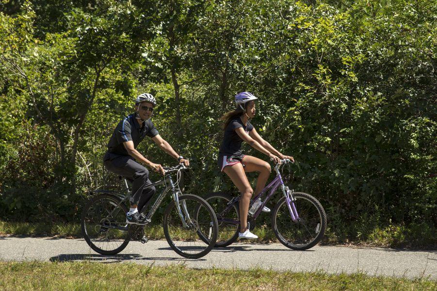Barack Obama et sa fille Malia