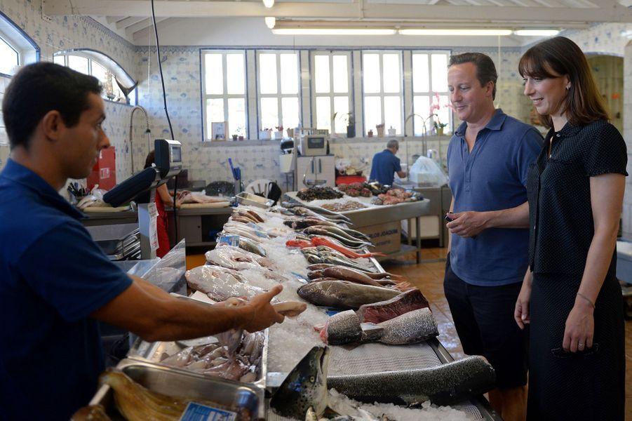David Cameron et son épouse Samantha à Cascais, au Portugal