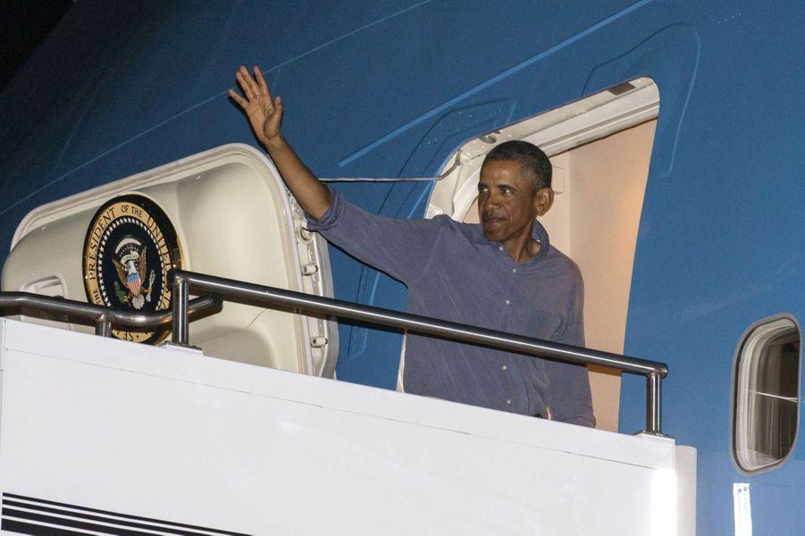 Départ pour Washington pour Barack Obama