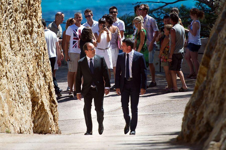 Rencontre entre François Hollande et Manuel Valls au Fort de Bregançon