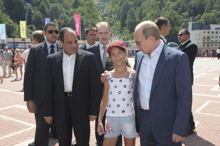 Vladimir Poutine avec Abdel Fattah al-Sissi à Sotchi