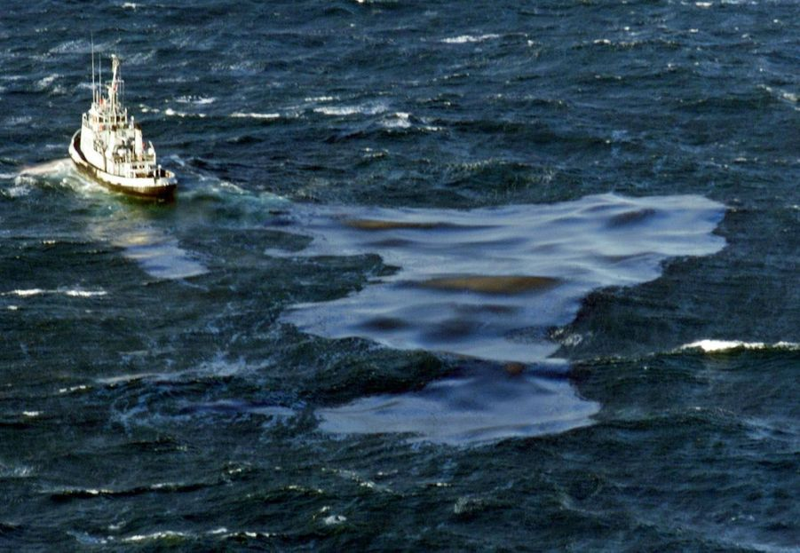 A bord du navire, 30 000 tonnes de fioul lourd, qui vont provoquer l'une des pires marées noires en France, touchant 400 km de côtes, de la pointe de la Bretagne à l'île de Ré.