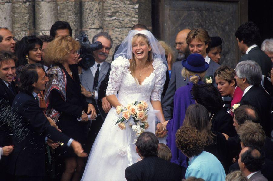 Le mariage d'Estelle et David Hallyday, vendredi 15 septembre 1989.