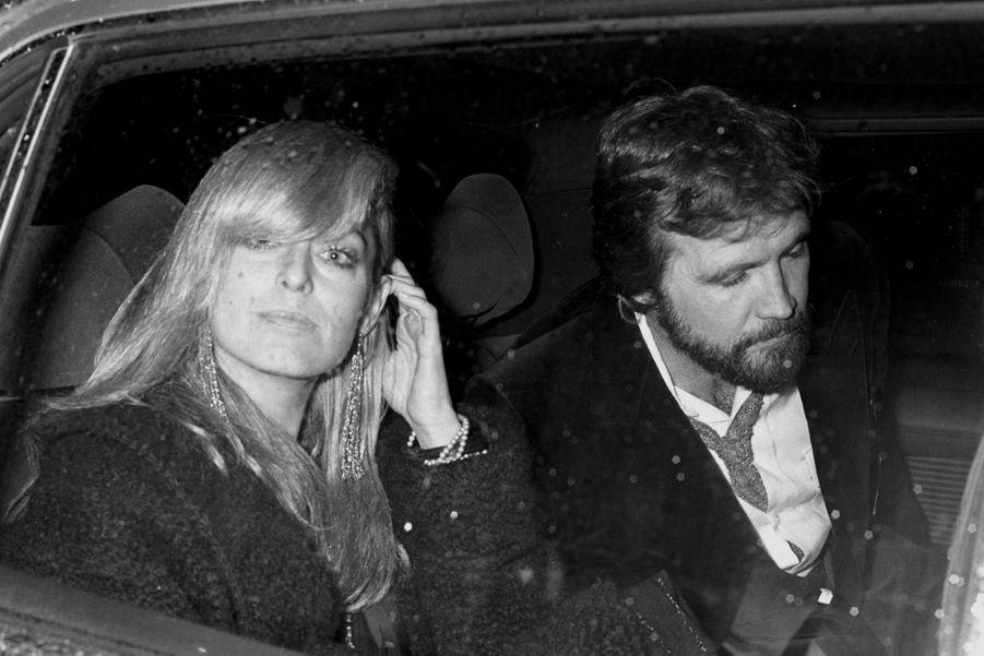 Farrah Fawcett et Lee Majors, à Londres en mars 1979.