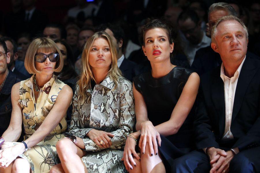 Anna Wintour, Kate Moss, Charlotte Casiraghi et François-Henri Pinault