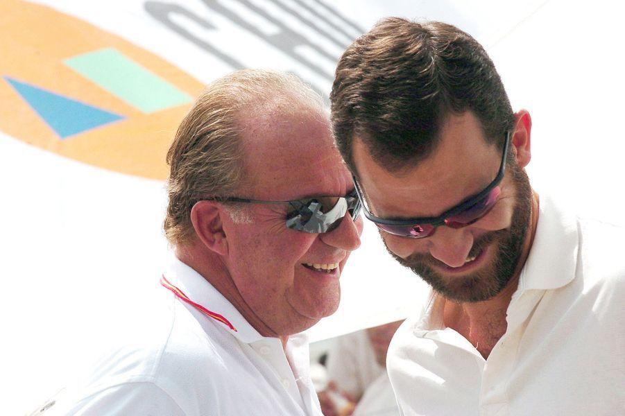 Avec Juan Carlos, en 2004