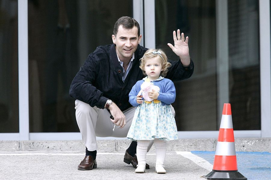 Avec sa fille Leonor, en 2007