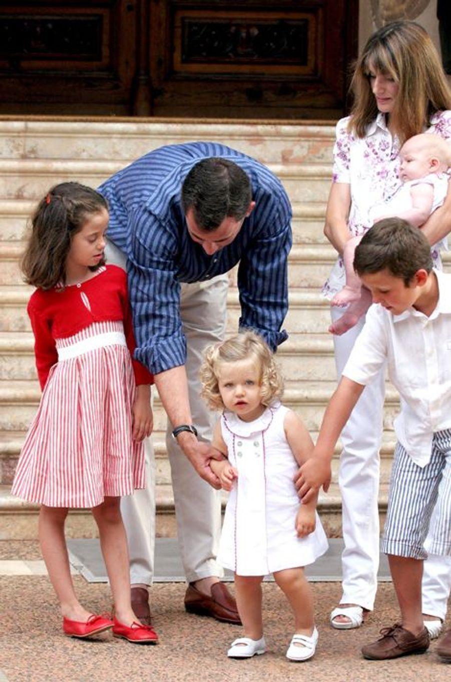 En juillet 2007 avec ses filles
