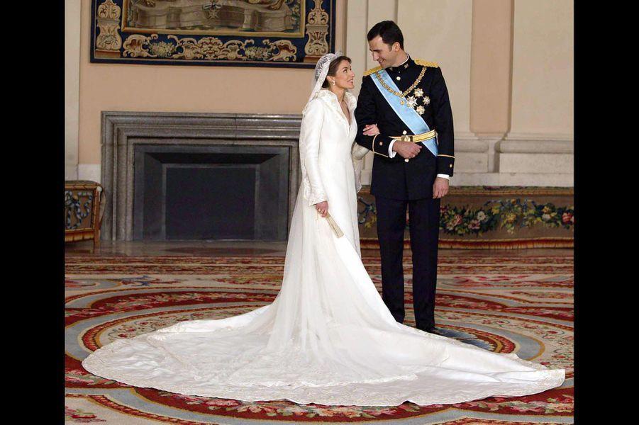 Mariage avec Letizia, en mai 2004