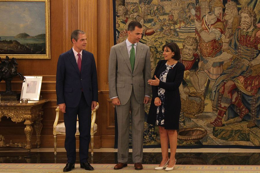 Felipe VI et Anne Hidalgo, roi et maire