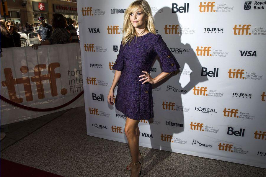 L'actrice était à Toronto pour «The Good Lie», inspiré de l'histoire de quatre orphelins, rescapés d'une attaque de leur village au Soudan.