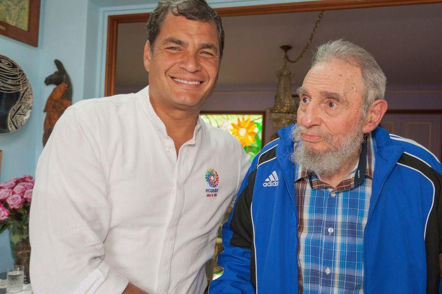 Avec le président équatorien Rafael Correa