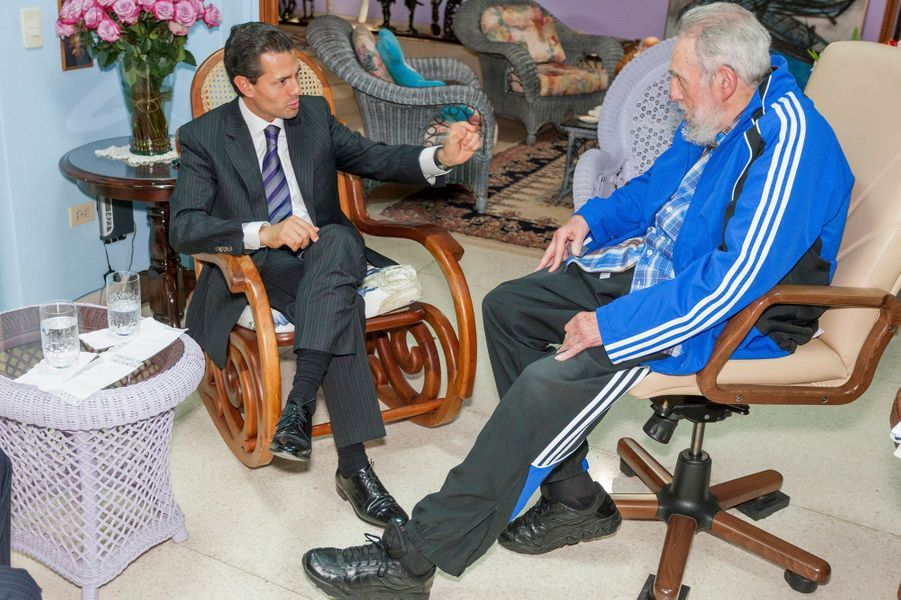 Avec le président mexicain Enrique Peña Nieto