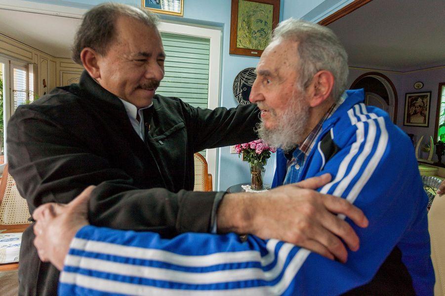 Avec le président nicaraguayen Daniel Ortega