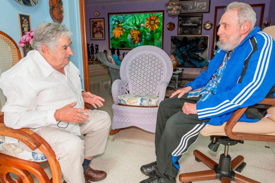 Avec le président uruguayen Jose Mujica