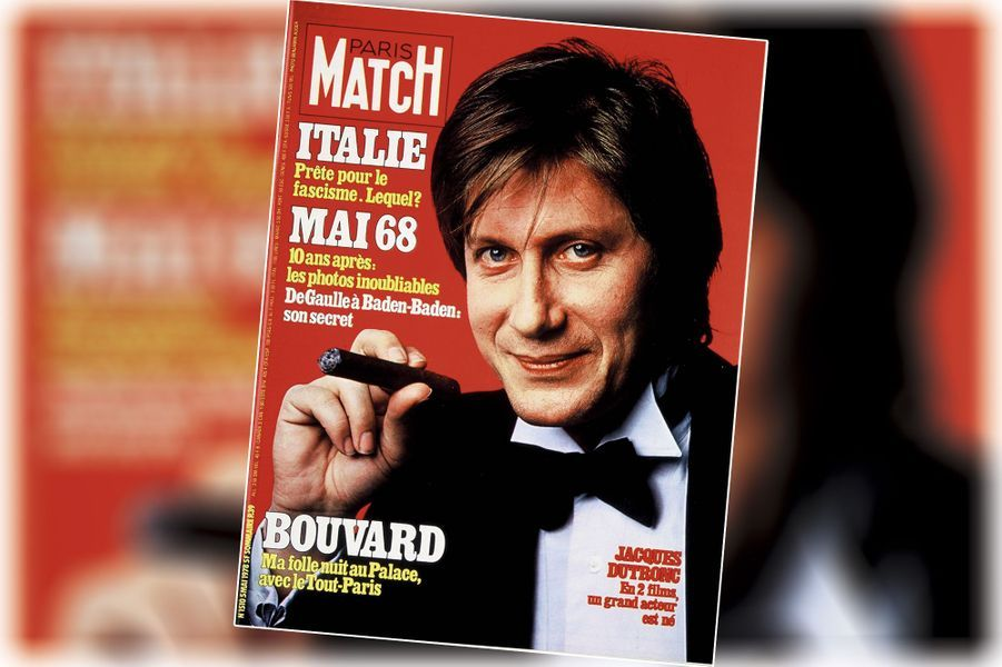 « Jacques Dutronc : en deux films, un grand acteur est né » - couverture du Paris Match n°1510, daté du 5 mai 1978.