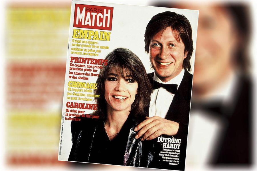 « Dutronc-Hardy : Le mariage ? Si leur fils le demande... » - couverture du Paris Match n°1660, daté du 20 mars 1981.