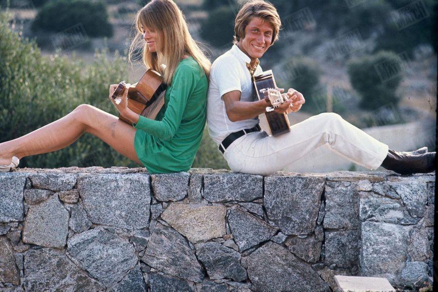 Françoise Hardy et Jacques Dutronc en 1968.