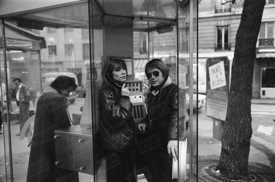 Françoise Hardy et Jacques Dutronc à Paris, en décembre 1980.