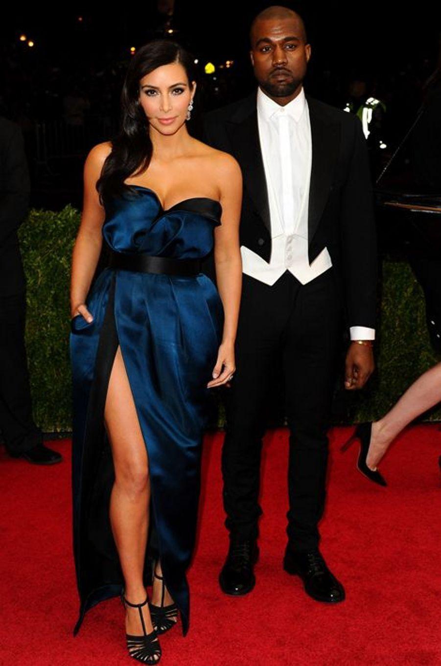 Kim Kardashian (en Lanvin) et Kanye West