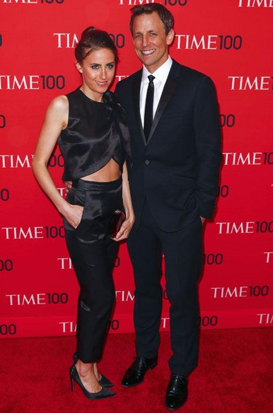 Le présentateur Seth Meyers et sa femme