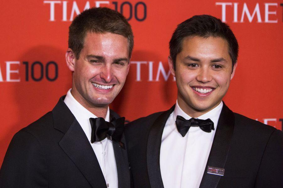 Les fondateurs de Snapchat Evan Spiegel et Bobby Murphy