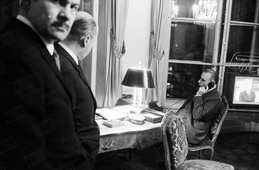 Georges Pompidou à Matignon en mars 1967.