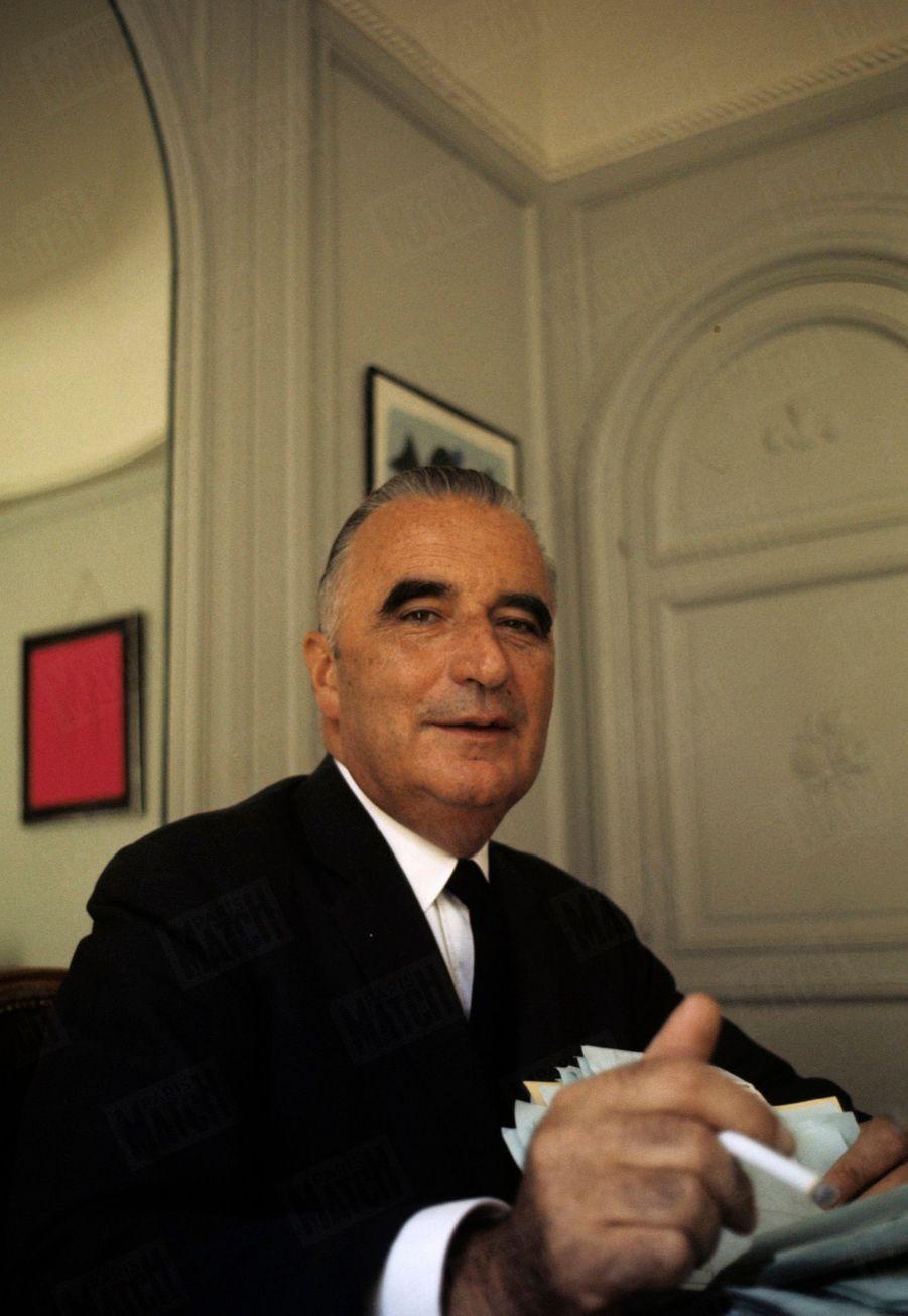 Le candidat Georges Pompidou en campagne lors de l'élection présidentielle en mai 1969.