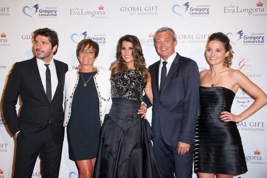Patrick Fiori, Karine Ferri et la famille de Grégory Lemarchal, Leslie, Pierre et Laurence