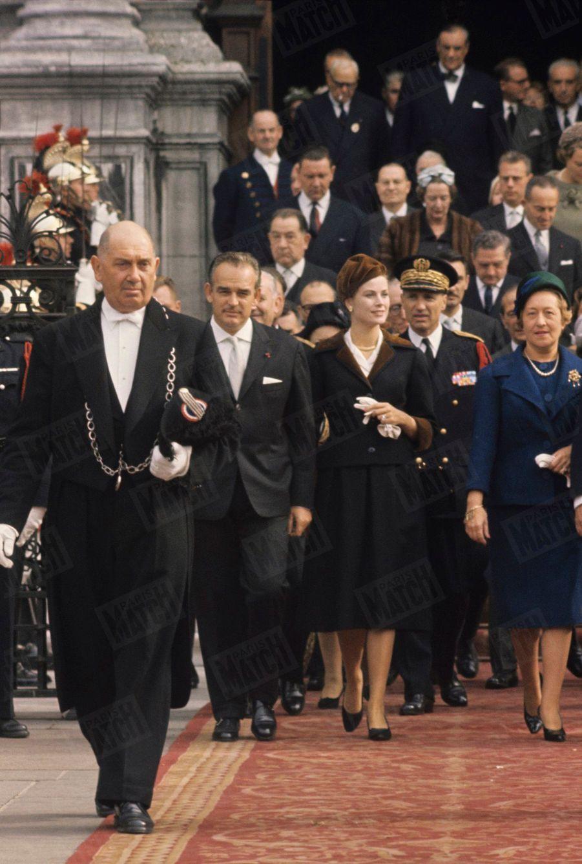 Grace de Monaco et le prince Rainier à Paris, en octobre 1959.