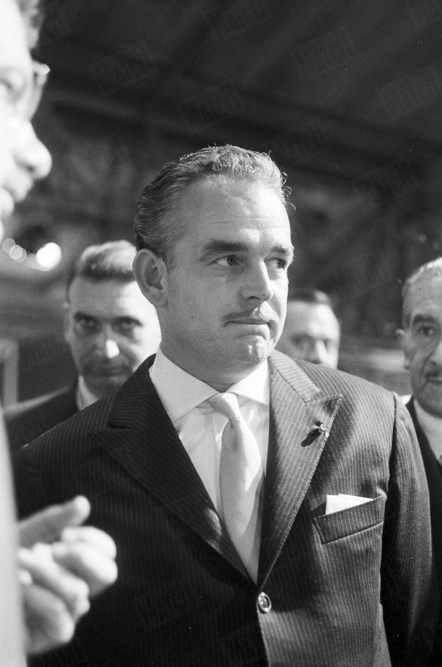 Le prince Rainier de Monaco en visite officielle à Paris, octobre 1959.