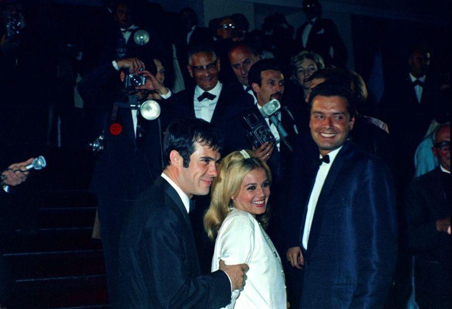 Guy Bedos et Sophie Daumier au 20ème Festival de Cannes en mai 1967.