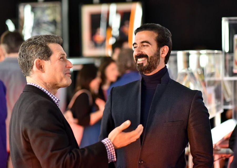 Josh Berger, directeur de Warner Bros, et Ayman Hariri.