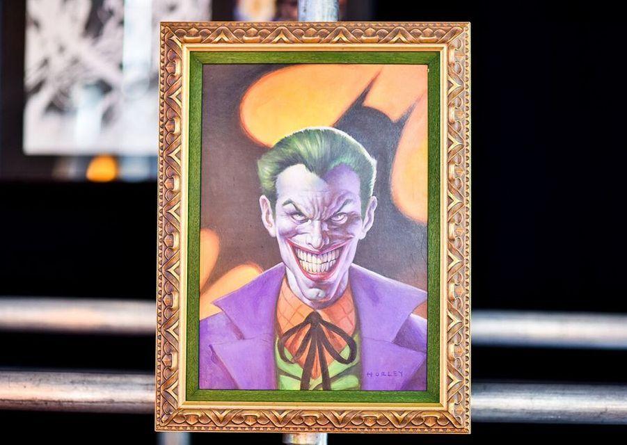 Un portrait du Joker peint par le dessinateur de comics Alex Horley.