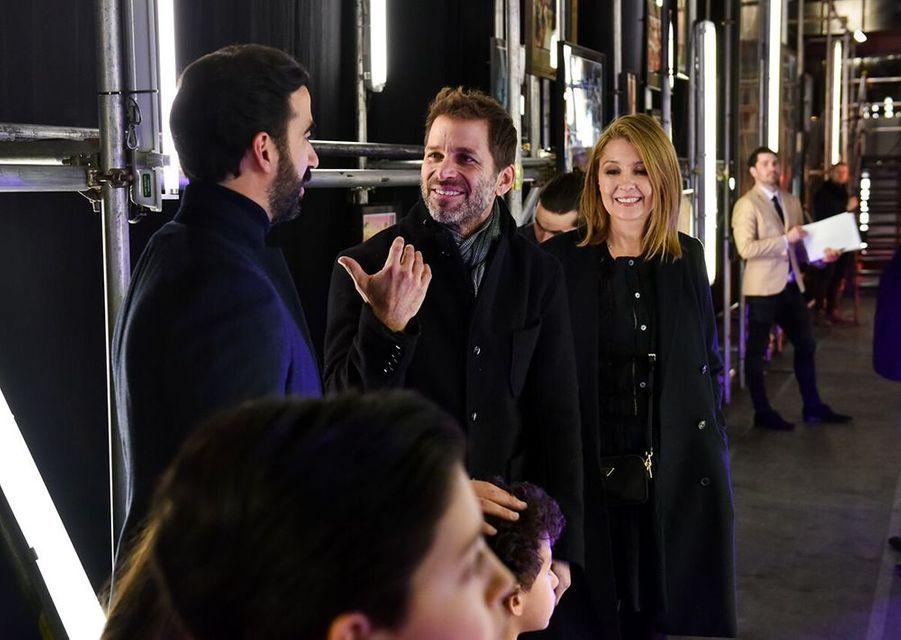 Ayman Hariri, Zack Snyder et son épouse.