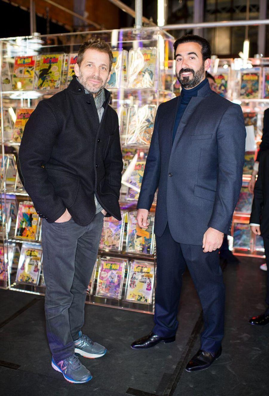 Zack Snyder et Ayman Hariri.