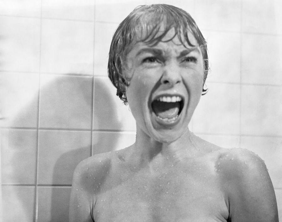 Janet Leighsur le tournage de « Psychose », en 1960.